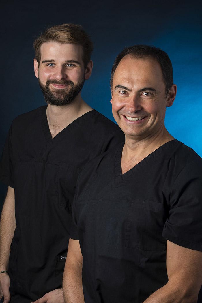 Chirurgiens-dentistes : Dr Maxime Loustau et Dr Olivier Morin